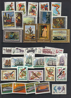 Russia 1981 Eight unmounted mint sets