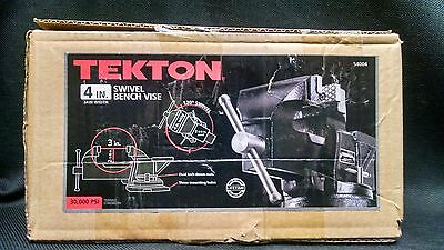 TEKTON 54004 4-Inch Swivel Bench Vise - NEW - OPEN BOX - FAST DELIVERY
