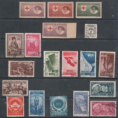 ROMANIA - 19 x Mint & Used Stamps - 1929-1948 Period