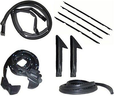 82-92 Camaro Firebird Coupe Weatherstrip Complete Kit, Rubbers, Seals, Felts