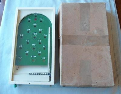 Vintage 1950 Chad Valley Miniature Glass Topped Bagatelle Working 12 Metal Balls