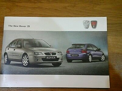 The New Rover 25 Brochure 2004