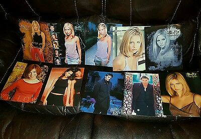Buffy the Vampire Slayer collection of 10 10x8 postcards rare collectible