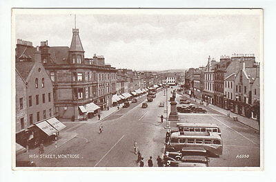 High Street Montrose Angus 1938 Valentines A6950 Published 1945 Old Postcard