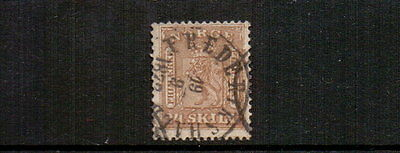 NORWAY 1863 24sk BISTRE-BROWN SG19 USED CAT £160