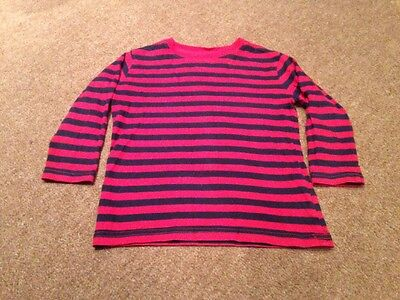Baby Gap Long Sleeve Top Aged 2 Red And Navy Stripes