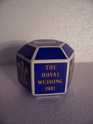Wedgwood Blue Money box in excellent condition.