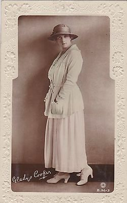 OLD POSTCARD GLAMOUR ACTRESS GLADYS COOPER HAT 1910s FASHION FB73