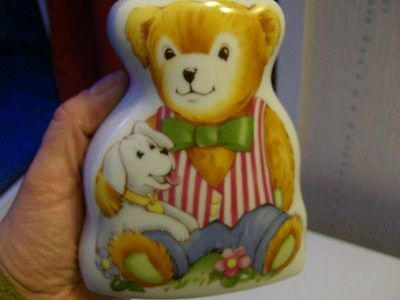 ROYAL WORCESTER money box WOOSTER BEAR in excellent cond c 1993 NO RESERVE