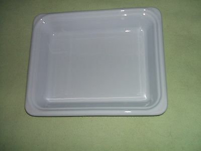 Emile Henry White Ceramic Roasting Baking Oven Serving Dish 32x26x6cm 2.3Ltr