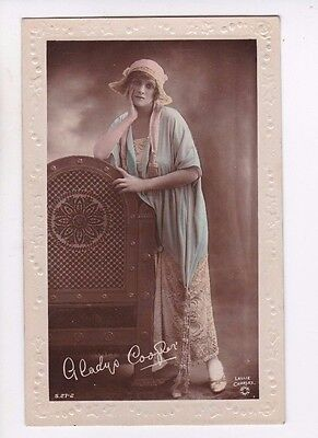 OLD POSTCARD GLAMOUR WOMAN ACTRESS GLADYS COOPER HAT 1910s FASHION FB78