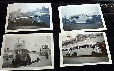 7 Black & White 1957 - 1959 Photographs of Eastern National Buses
