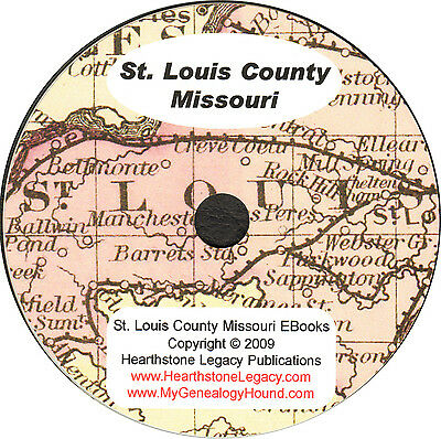 1893 St. Louis County, Missouri Directory 6522 taxpayers + 19 maps 219 locations