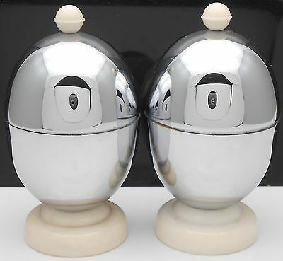 Kosy Kraft - Pair Of Insulated Chrome Egg Coddler Cups - Vintage