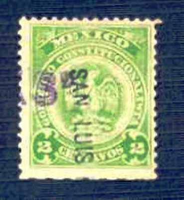 MEXICO-1914-Revenue Stamp-#393B-USED