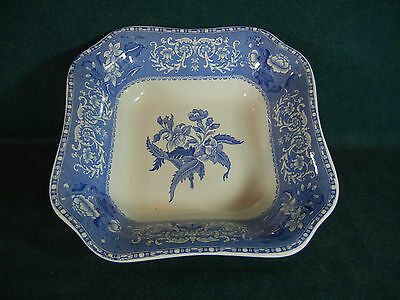 "Copeland Spode Blue Camilla 9"" Square Serving Bowl"