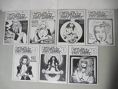Lot Of 7 The Randy Reviewer #2, 3, 4, 5, 6, 9 & 11 Comix Magazine Brad W. Foster