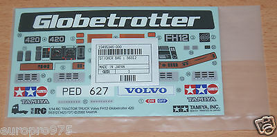 Tamiya 56312 Volvo FH12 Globetrotter 420, 9495346/19495346 Decals/Stickers, NIP