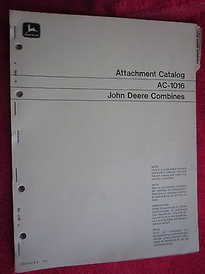 1971-74 John Deere Attachments For Combines Catalog