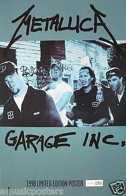 """Metallica """"garage Inc. 1998 Limited Edition # Canadian Poster - Only 2000 Made!"""