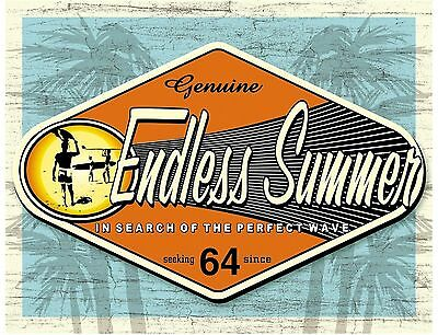 Endless Summer  Surfing wall Sign for Office Shed or Camper Van