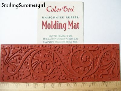 Ornate Polymer Clay Molding Mat Texture Rubber Stamp