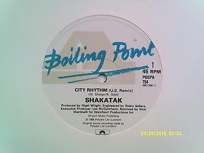 "Shakatak City Rhythm ( U.s. Remix ) 12"" Single 1985 N/mint"