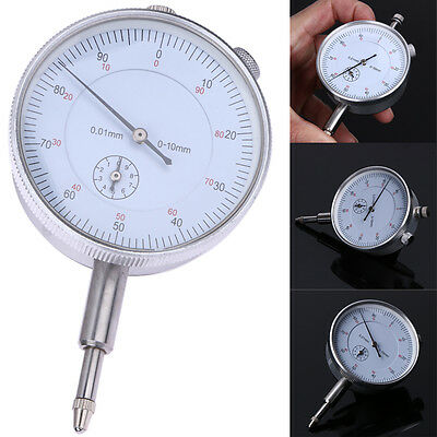 Precision Test Tool 0.01mm Accuracy Metric Instrument Dial Indicator Gauge0-10mm