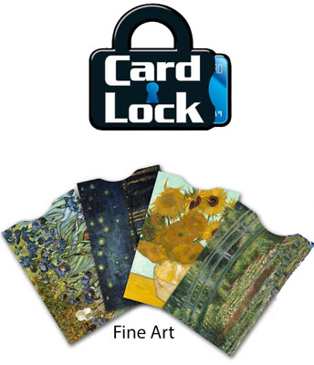 New Card Lock RFID Credit Card Theft Blocking Protection Sleeves Fine Art 4 Pack