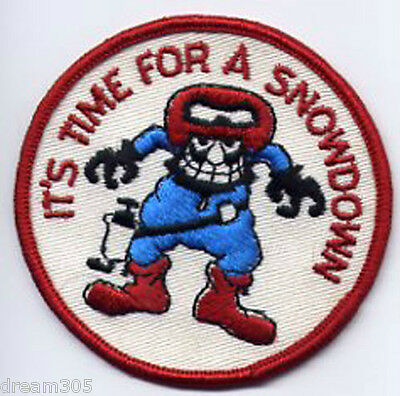 Polaris Snowmobile Vintage Patch ITS TIME FOR A SNOWDOWN! Snowboard Ski SLED