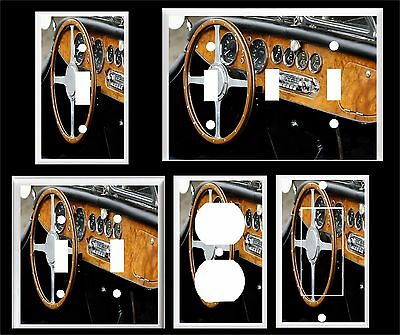 Vintage Old Car Wood Dash Board  Light Switch Cover Plate    Made In Usa