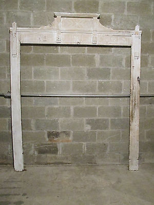 ~ Antique Carved Oak Door Or Window Molding ~ 79 X 96~ Architectural Salvage~