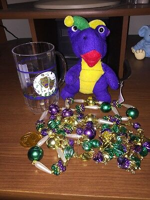 Mardi Gras Beads Cup Gator Coin Every Thing You Need To Celebrate