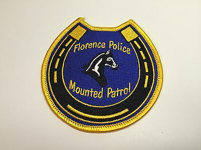 New Florence Alabama Mounted Patrol Police Patch Horse