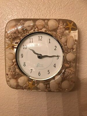 Shore Shells Antique Seashell Wall Clock Decoration Rare Great Condition