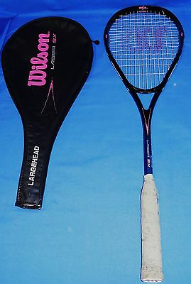 Wilson Laser SX Squash Racquet Racket  Adults with Cover Excellent Graphite