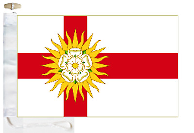 Flag Banner 150cm x 90cm Yorkshire Born And Proud of It 5ft x 3ft