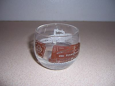 Vintage Pennsylvania Railroad Roly Poly Whiskey Glass