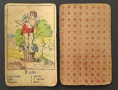 Unkown Antique Gypsy Fortune Telling Oracle Cards Deck Vintage Hand Colored