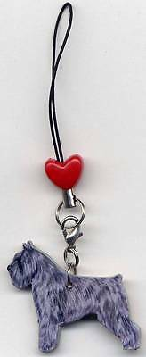 "BOUVIER DES FLANDERS Purse/Phone ""CHARM on a LEASH""-with Red Heart Shaped Bead!"