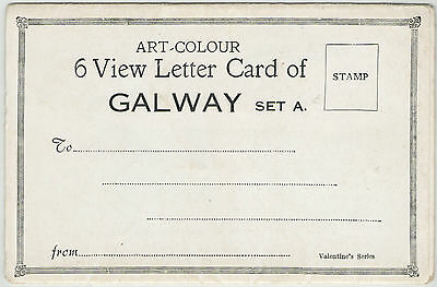 ART COLOUR 6 VIEW LETTER CARD OF GALWAY SET A VALENTINE'S UNPOSTED 1920s-30s