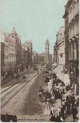 HIGH STREET BELFAST EARLY 1900s POSTCARD UN-POSTED BY E.T.W.D.