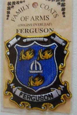 FERGUSON Embroidered PATCH Coat of Arms Family Crest - Sew or Iron On