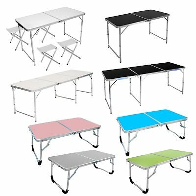 2/4/6FT Aluminum Folding Picnic Table Reading Folding Camping BBQ Party Table