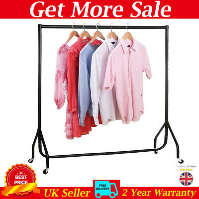 Clothes Garment Rail Coat Display Stand Rack Heavy Duty with Brake 4 5 6FT Metal