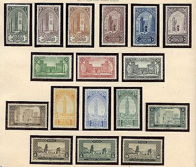 Timbre Colonies Francaises Maroc Serie N° 63/79 * Cote + 360 €