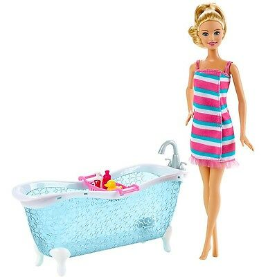Barbie - Furniture Bath - Bath Tub with Doll