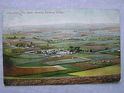 Postcard - Fulking Village From The Dyke - Brighton Sussex - 1906