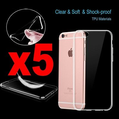 1/3/5x Ultra Slim Soft Clear Silicone Gel Cover Case for iPhone 7 7 Plus 6s 6S +