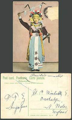 Hong Kong China Old Colour Postcard Chinese Stage Actor Actress, OPERA, Costumes